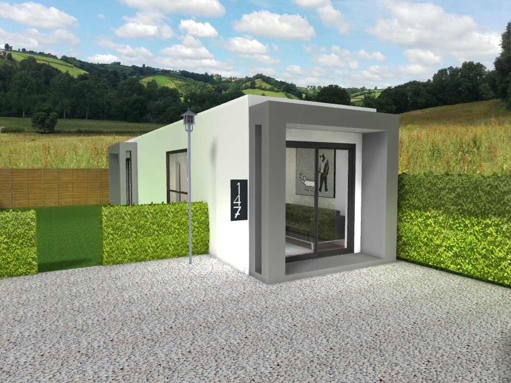 Affordable 1 bedroom shipping container home