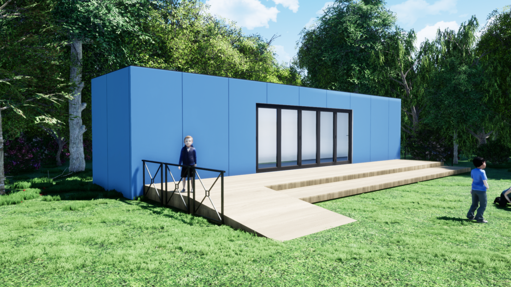 Shipping container School building