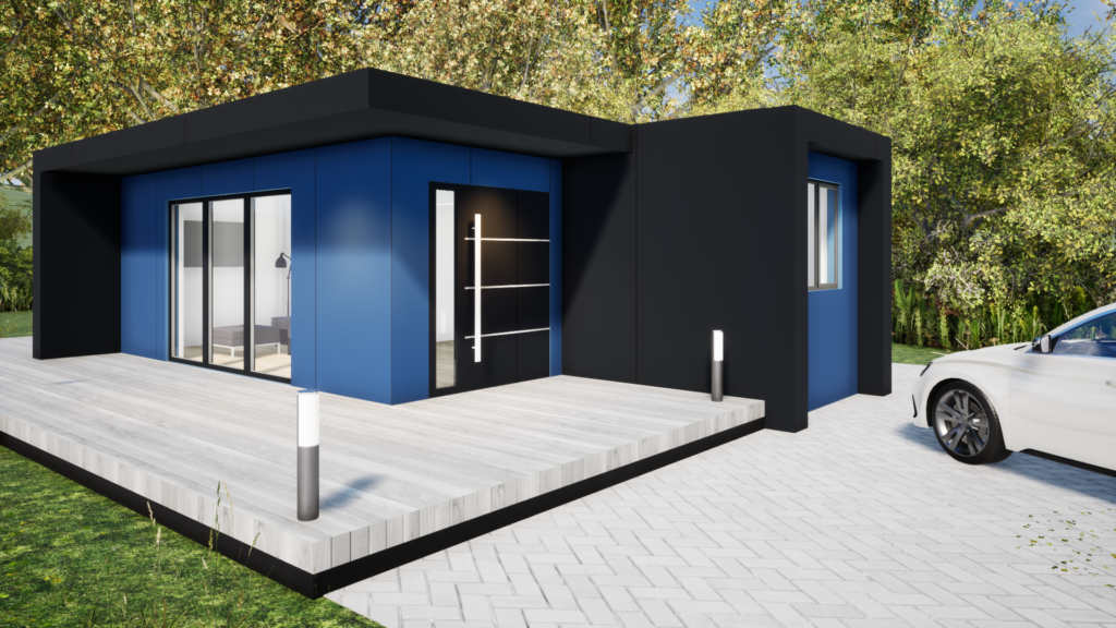 H1.5 Affordable shipping container home