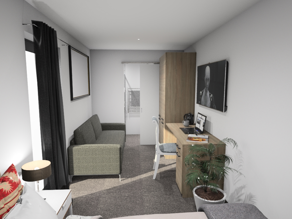 2. H0.5 No Kit_Bed to living