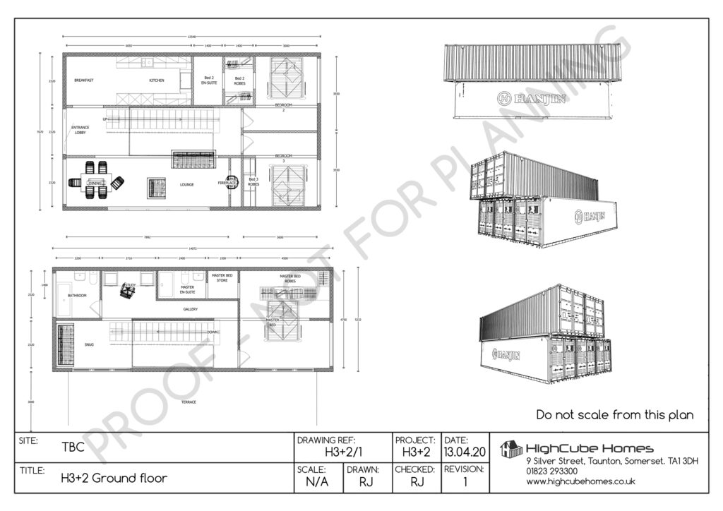 2 Storey shipping container home