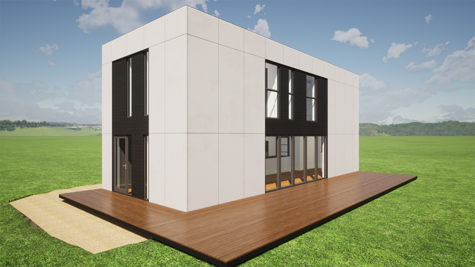 Bespoke shipping container house design