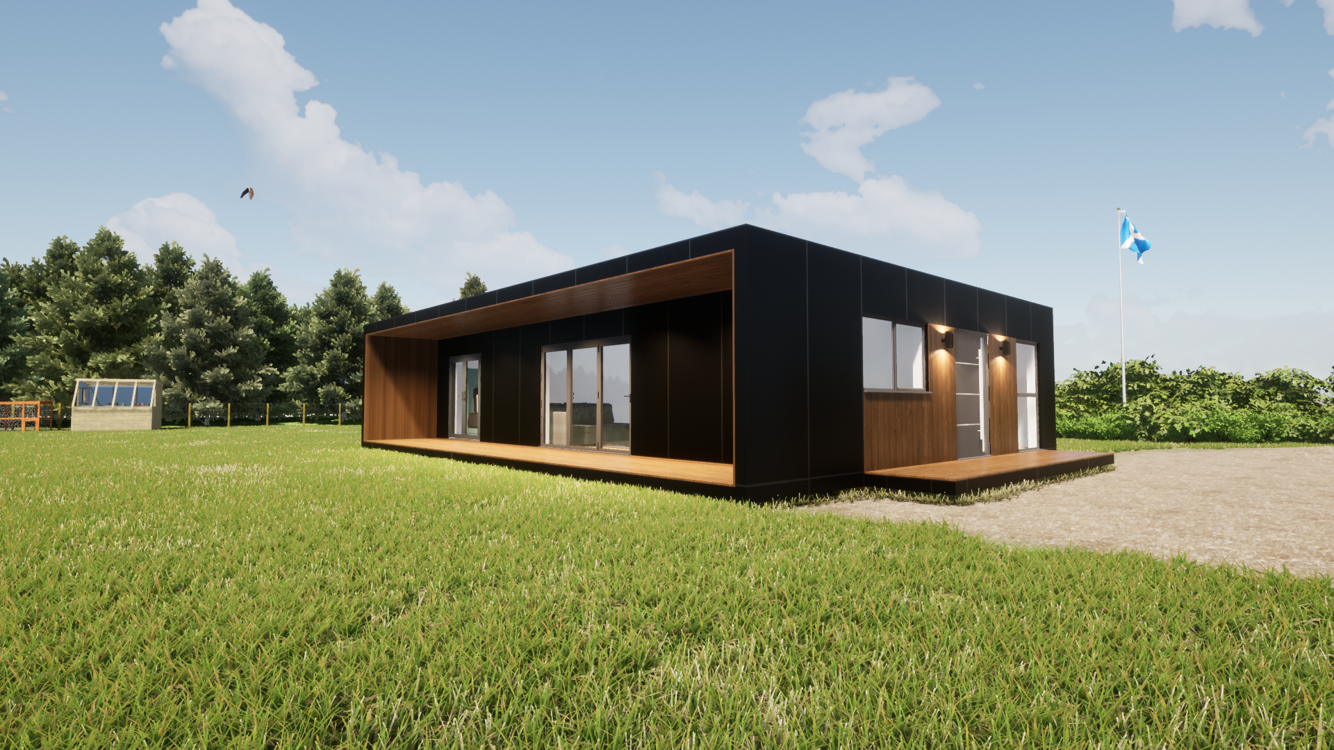 Shipping container home design 3 bed