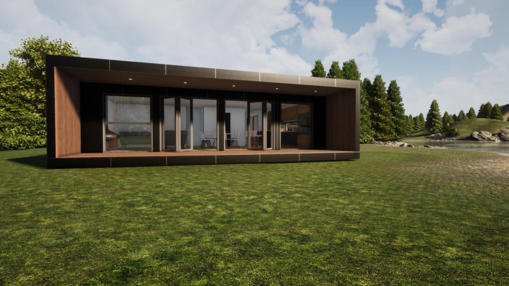H4 4 Bed Shipping Container Home