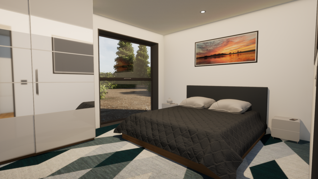 Shipping container home design Master Bedroom